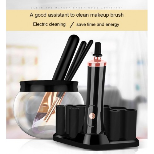 Electric Makeup Brush Cleaner & Dryer Set Make Up Brushes Washing Tool Makeup Brushes Cleaner & Dry In Seconds Protect Bristle
