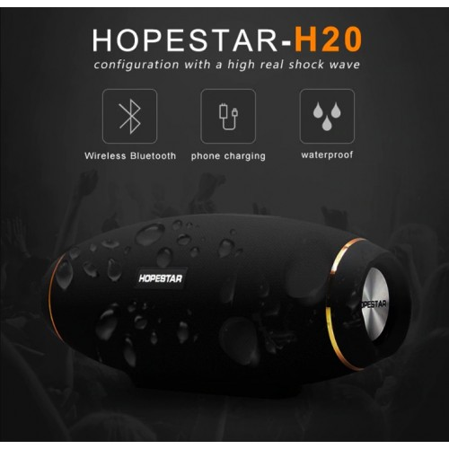 H20 Wireless portable Bluetooth Speaker 30W Waterproof Best Bass Outdoor Effect with Power Bank USB Mobile AUX