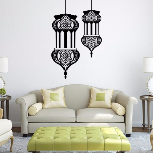 57cm*90cm Large Size Islamic Wall Sticker Home Decoration Muslim Wall Sticker Removable Waterproof Islamic Mural
