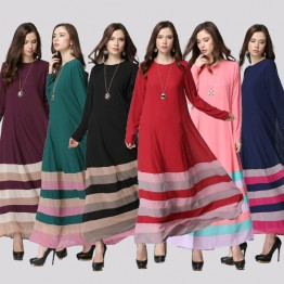 Muslim Dress Islamic Slim Abaya Women Maxi Long Dresses Dubai Turkey Instant Hijab Arab Robes Vestidosi Caftan#CL170329W06