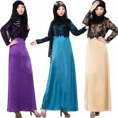 Fashion Muslim Abaya Islamic Vintage Brand Maxi Dress Women Long Gown Dresses Style Instant Hijab Arab#CL170330W01