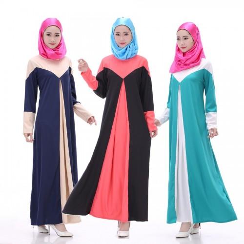Islamic clothing wholesale plus size muslim dress abaya in dubai kaftan Long Malaysia Abayas #CL170330W03
