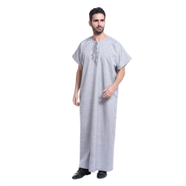 01aa9ca5ba Arab Clothing Men Jubba Thobe Muslim Islamic Clothing Men Plus Size  Malaysian Indian Robe Muslim Men Clothing Kaftan Dubai #CL170913M01
