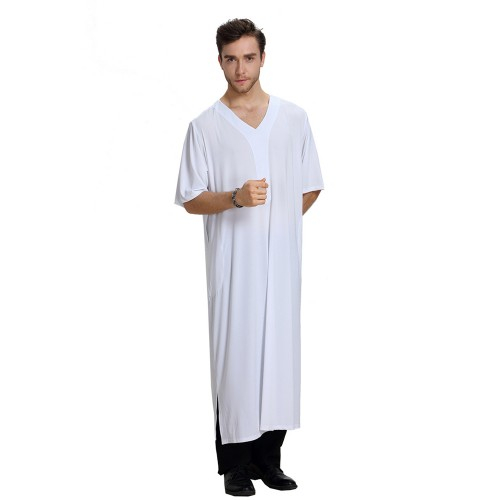 Fashion Muslim Clothing Men Robes Arab Dubai Indian Middle East Islamic Man Thobe Kaftan #CL17091301M02