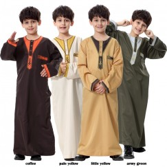 Kids Kaftan Abaya Boy Jubba Islamic Robes Muslim Jubba Thobe Clothing Islam Apparel Clothing Muslim Male Dress Islamic#CL170913C01