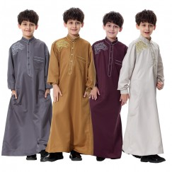 Kids Kaftan Abaya Boy Jubba Islamic Robes Muslim Jubba Thobe Clothing Islam Apparel Clothing Muslim Male Dress Islamic#CL170913C03