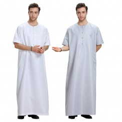 Fashion Muslim Clothing Men Robes Arab Dubai Indian Middle East Islamic Man Thobe Kaftan #CL17091301M03