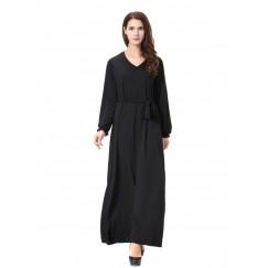 Islamic clothing wholesale plus size muslim dress abaya in dubai kaftan Long Malaysia Abayas #CL17120301