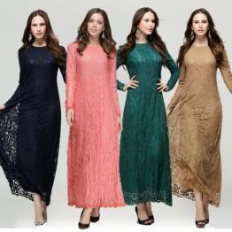 Islamic clothing wholesale plus size muslim dress abaya in dubai kaftan Long Malaysia Abayas #CL171203W03