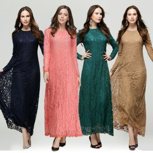 Islamic clothing wholesale plus size muslim dress abaya in dubai kaftan Long Malaysia Abayas #CL171203W03