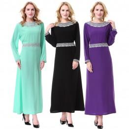 Islamic clothing wholesale plus size muslim dress abaya in dubai kaftan Long Malaysia Abayas #CL171203W04