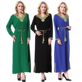 Islamic clothing wholesale plus size muslim dress abaya in dubai kaftan Long Malaysia Abayas #CL171203W05