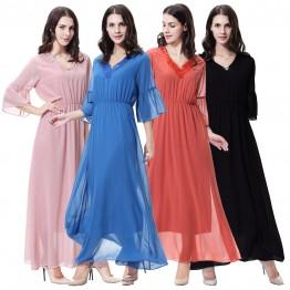Islamic clothing wholesale plus size muslim dress abaya in dubai kaftan Long Malaysia Abayas #CL171203W07