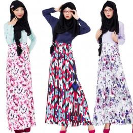 Islamic clothing wholesale plus size muslim dress abaya in dubai kaftan Long Malaysia Abayas #CL171203W09