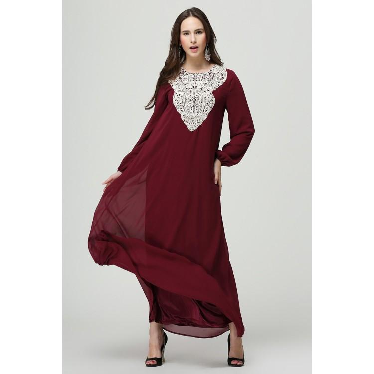 Islamic clothing wholesale plus size muslim dress abaya in dubai kaftan  Long Malaysia Abayas #CL171203W10