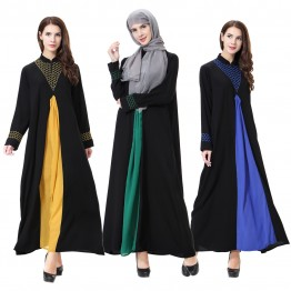 Islamic clothing wholesale plus size muslim dress abaya in dubai kaftan Long Malaysia Abayas #CL171203W12
