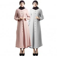 Islamic clothing wholesale plus size muslim dress abaya in dubai kaftan Long Malaysia Abayas #CL180316W06
