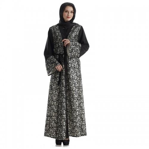 Islamic clothing wholesale plus size muslim dress abaya in dubai kaftan Long Malaysia Abayas #CL180316W07