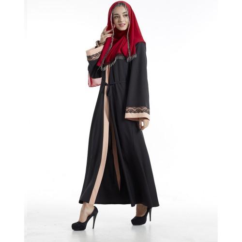 Islamic clothing wholesale plus size muslim dress abaya in dubai kaftan Long Malaysia Abayas #CL180316W08