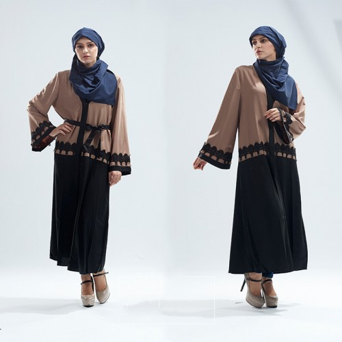 Islamic clothing wholesale plus size muslim dress abaya in dubai kaftan Long Malaysia Abayas #CL180316W09