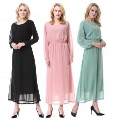 Islamic clothing wholesale plus size muslim dress abaya in dubai kaftan Long Malaysia Abayas #CL180702W01