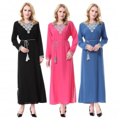 Islamic clothing wholesale plus size muslim dress abaya in dubai kaftan Long Malaysia Abayas #CL180702W02