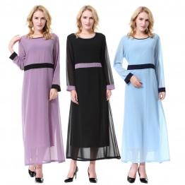 Islamic clothing wholesale plus size muslim dress abaya in dubai kaftan Long Malaysia Abayas #CL180702W03