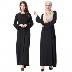 Islamic clothing wholesale plus size muslim dress abaya in dubai kaftan Long Malaysia Abayas #CL180702W04