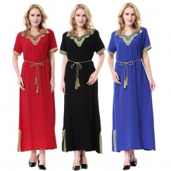 Islamic clothing wholesale plus size muslim dress abaya in dubai kaftan Long Malaysia Abayas #CL171203W05
