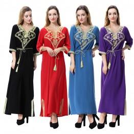 Islamic clothing wholesale plus size muslim dress abaya in dubai kaftan Long Malaysia Abayas #CL171203W06