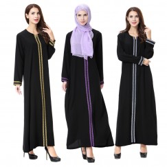 Islamic clothing wholesale plus size muslim dress abaya in dubai kaftan Long Malaysia Abayas #CL180702W07
