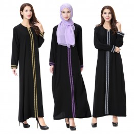 Islamic clothing wholesale plus size muslim dress abaya in dubai kaftan Long Malaysia Abayas #CL180702W07