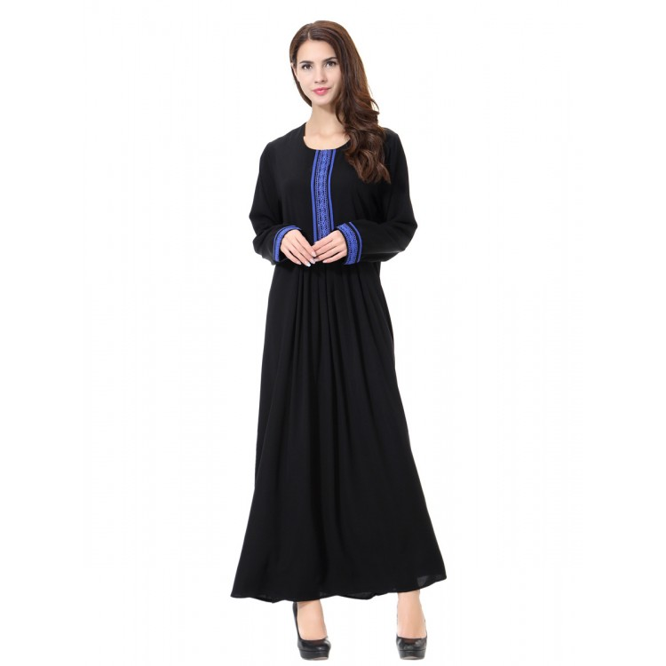 Islamic clothing wholesale plus size muslim dress abaya in dubai kaftan  Long Malaysia Abayas #CL180702W08