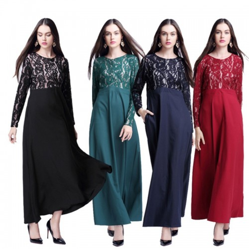 Islamic clothing wholesale plus size muslim dress abaya in dubai kaftan Long Malaysia Abayas #CL180702W09