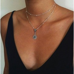 2019 European American Summer Explosion Models Alloy Sun Women's Personality Necklace Jewelry Gift Jewelry #CL190514W03