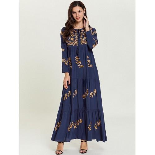 Women Elegant Dress with Long Sleeve Loose Dress Female Clothing CL200824W04