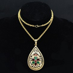 New Golden Women Necklace Islam Middle East Jewelry #CLA171229W08
