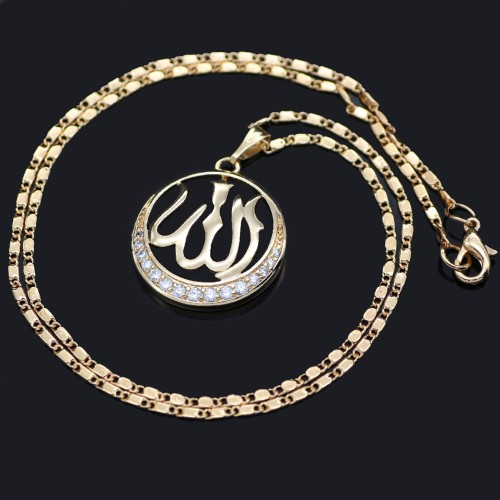 New Golden Women Necklace Islam Middle East Jewelry #CLA171229W10