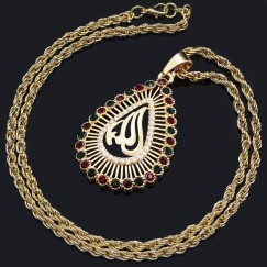 New Golden Women Necklace Islam Middle East Jewelry #CLA171229W11
