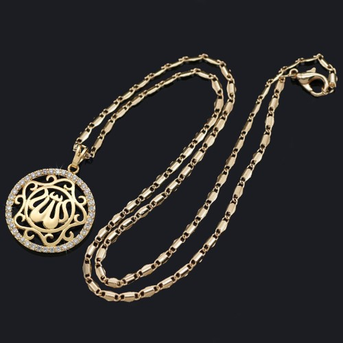 New Golden Women Necklace Islam Middle East Jewelry #CLA171229W13