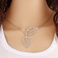 2019 European American Summer Explosion Models Alloy leaf Women's Personality Necklace Jewelry Gift Jewelry #CL190514W04