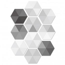 10pcs/lot Waterproof Hexagon Stickers DIY Self Adhesive Tile Art Wall Decal Sticker Kitchen Bathroom Anti-slip Floor Stickers #HD00002531OT