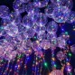 5sets x 18 inch LED balloon transparent bubble balloon 3M LED string wedding party festival Christmas