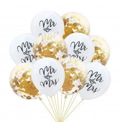 12inch Confetti Balloon set MR&MRS Wedding Party Birthday Balloons Decoration Wedding Confetti balloon Adult Party Supplies