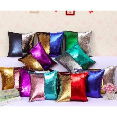 Reversible Color Change Sequined Cushion Throw Pillow Case Cover