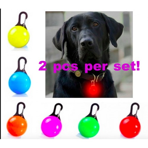 [2pcs per set]LED Glowing Pet Cat Dog Collars Flashing Luminous Collar Button Switch Pet Accessories Pet Flash Light Clip On Buckle Collar