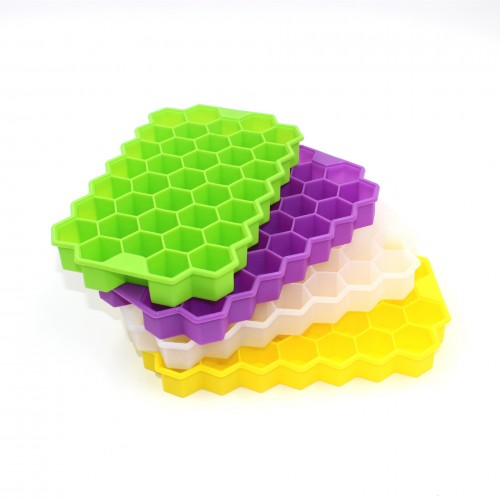 [4pcs/set]Ice Tray Cube Mold Creative DIY Honeycomb Shape Ice Cube ray mold Ice Cream Party Cold Drink Bar Cold Drink Tools
