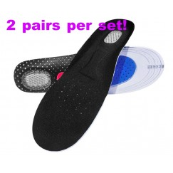 [2 pairs per set]Unisex Orthotic Arch Support Sport Shoe Pad Sport Running Gel Insoles Insert Cushion for Women foot care Big Size