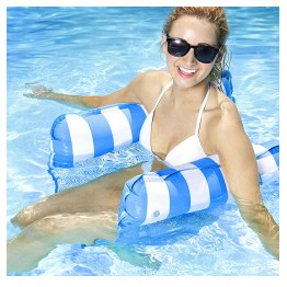 [4pcs/set] assorted color Foldable Dual-Use Backrest Floating Row Swimming pool inflatable floating swimming leisure floating lounger water air cushion
