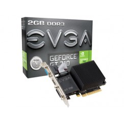 EVGA GeForce GT 710 2GB DDR3 64bit PCI-Express Dual Slot PaAAICW VGA/DVI-D/HDMI Graphics Card, Model 02G-P3-2712-KR